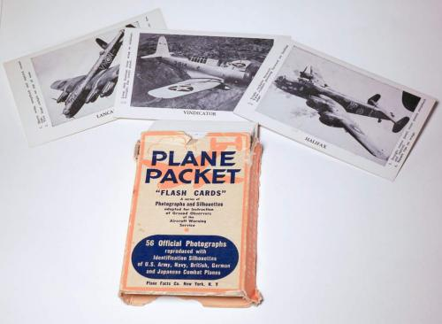 A small packet of flashcards with images of aircraft silhouettes on the front.
